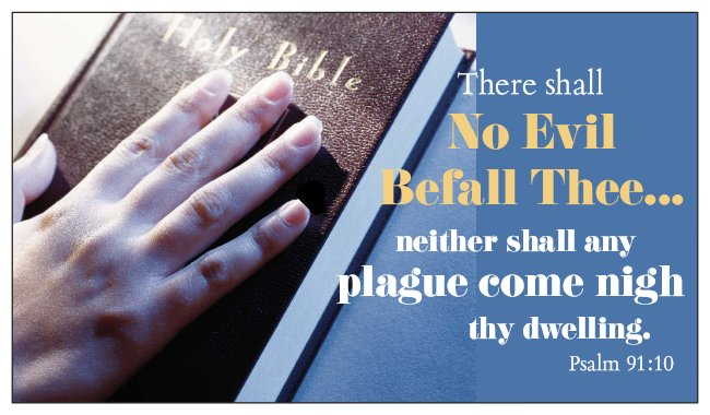 No Evil / No Plague Coronavirus Psalm 91 Seed Card