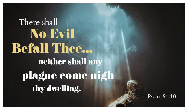 No Evil / No Fear Psalm 91 Seed Card - Light in Darkness