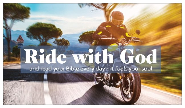 Seed Card: Ride with God Motorcycle Card Biker Theme