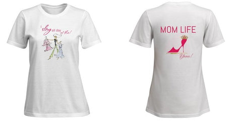 Best Mom Shirt  LOL Mom Life - I Slay All Day 2-Sided