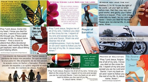 Need Bible Tracts? Try Assorted Prayer of Salvation Seed Cards