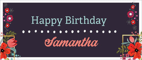 Create a Custom Birthday Party Banner 2.5 ' x 6' (Sample Shown)