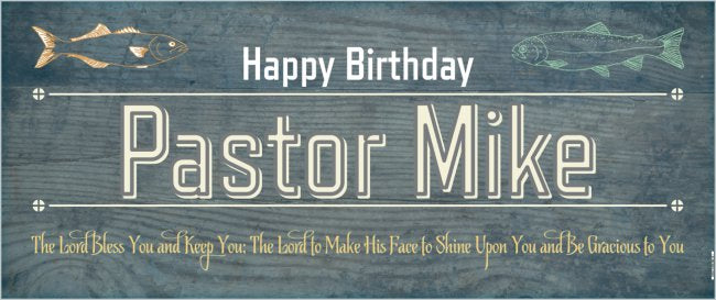 create your own custom 2 5 x 6 birthday banner fishing theme