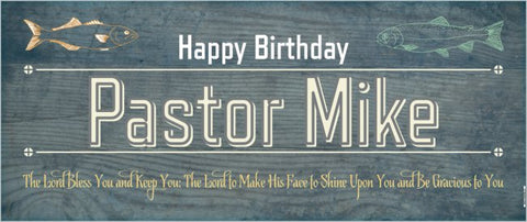 Create Your Own Custom 2.5' x 6' Birthday Banner - Fishing Theme
