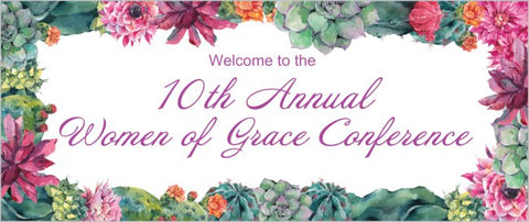 Create a Custom Church or Event Banner 2.5 ' x 6' (Sample Shown)