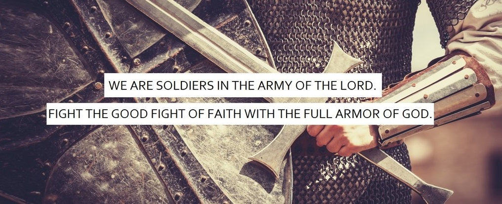 Armor of God 2.5' x 6' Conference Banner - Knight Theme