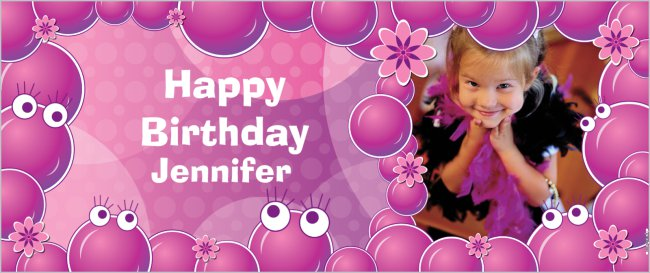 create a custom birthday banner for a child s birthday party 2 5 x6