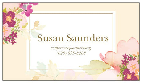 Order Business Cards - Theme Floral Design