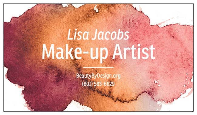 Order Business Cards - Paint Theme (Blush)