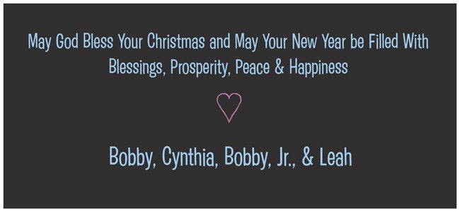 merry christmas happy new year peace custom horizontal 4 x 8 cards