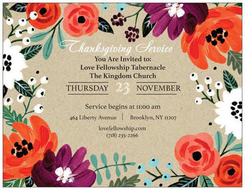 Order Thanksgiving Event Cards for Your Ministry