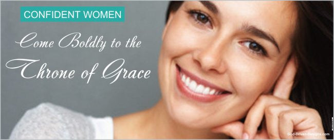 Come Boldly to the Throne of Grace Confident Women 2.5' x 6' Banner
