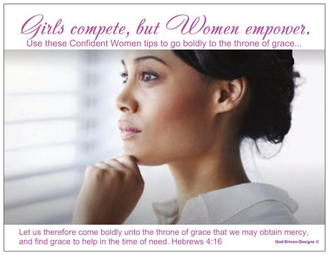Confident Women Ministry and Conference Prayer Card with Tips