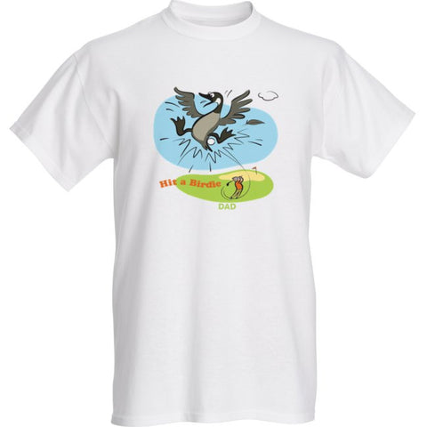 A Big Hit for Father's Day: Hit a Birdie, Dad Customizable T-Shirt