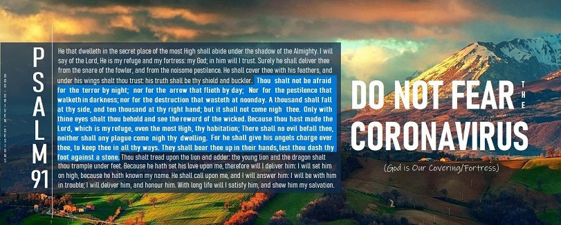 Do Not Fear Coronavirus Psalm 91 Banner - Empowering Message