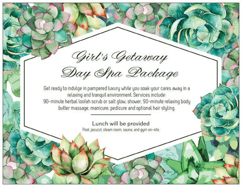Order Event Cards: Green Garden Invitation