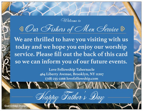 Father's Day Church Welcome Cards - Fisher's of Men