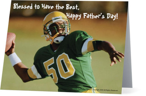 Father's Day Greeting Card - Football Theme