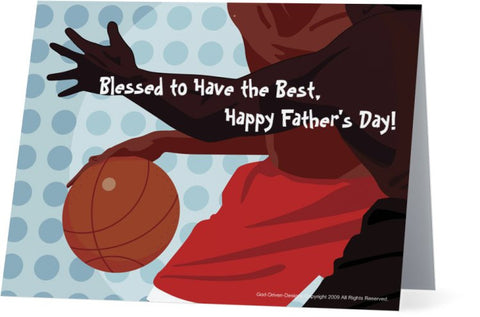 Father's Day Greeting Card - Basketball Theme