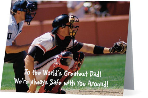 Father's Day Greeting Card - Baseball Theme