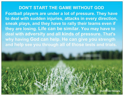 Don't Start the Game Without God Football Prayer Card