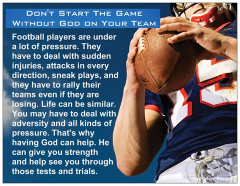 Football Motivation Prayer Card