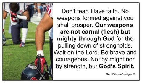Don't Fear Have Faith Men's Football Outreach Church Ministry Card