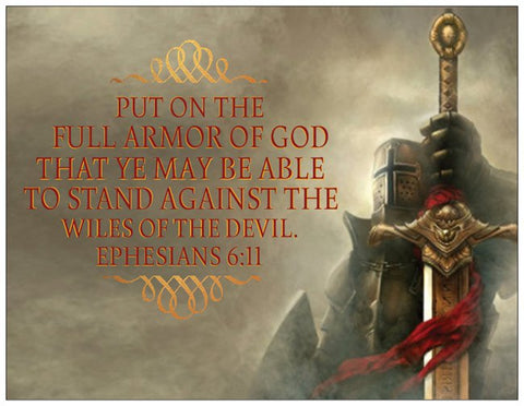 Put on the Full Armor of God - Knight Warrior Card with Battle Theme