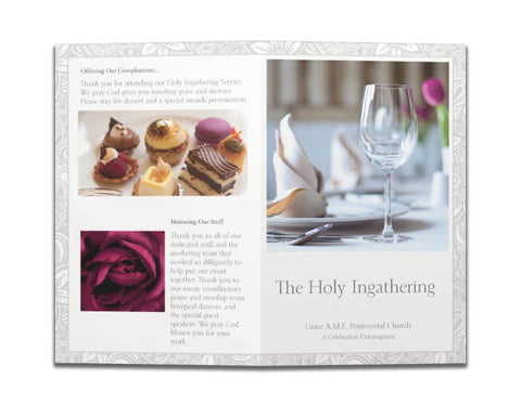 Church Holy Ingathering Formal Dinner Event Programs