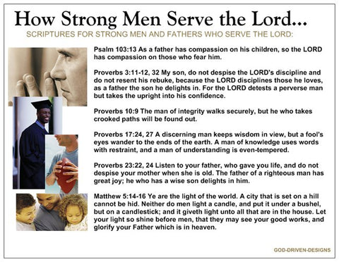 How Strong Men Serve the Lord Prayer Card