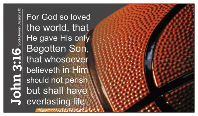 John 3:16 Basketball Ministry Wallet Size Seed Card