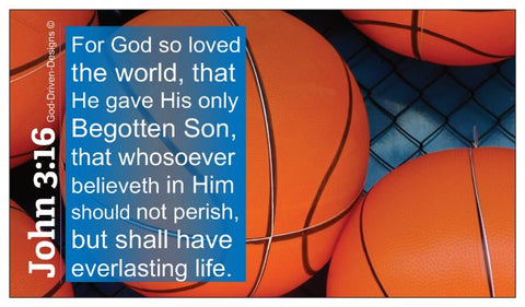 John 3:16 Basketball Church Sports Ministry Wallet Size Seed Card