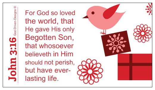 John 3:16 Limited Edition Christmas Wallet Size Seed Card - Pink