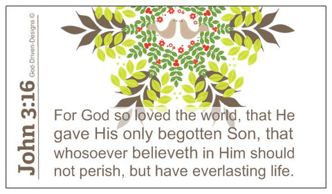 John 3:16 Limited Edition Christmas Wallet Size Seed Card - Taupe