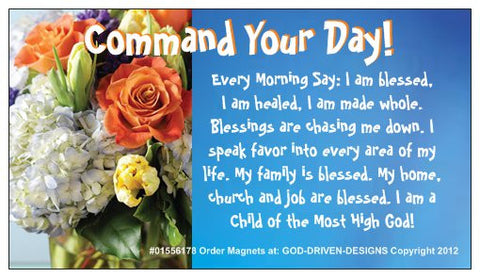 Command Your Day Inspirational Magnets 25/Pack