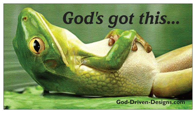 God's Got This Frog Kids Inspirational Magnets 25/Pack