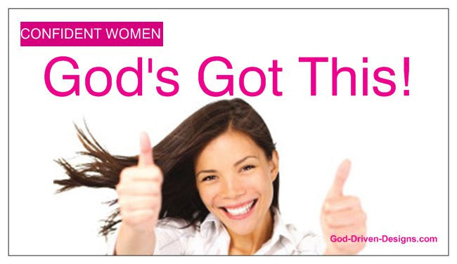God's Got This Confident Women Inspirational Magnet 25/Pack