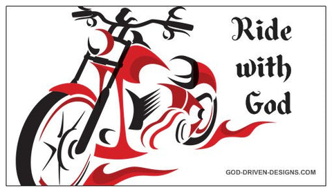 Motorcycle Biker Magnet Ride with God 25/Pack