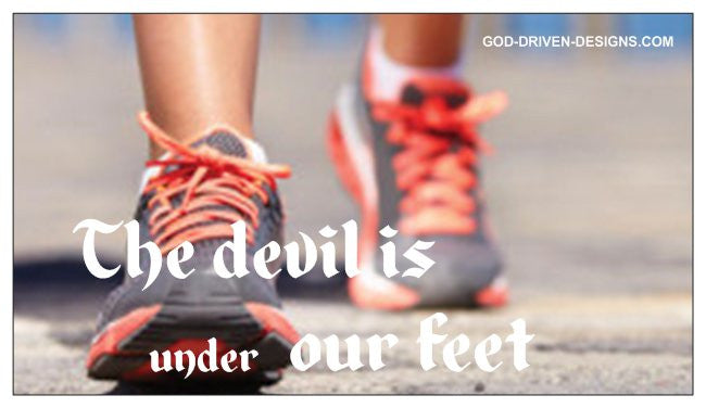 The Devil is Under Our Feet Romans 16:10 Magnet 25/Pack