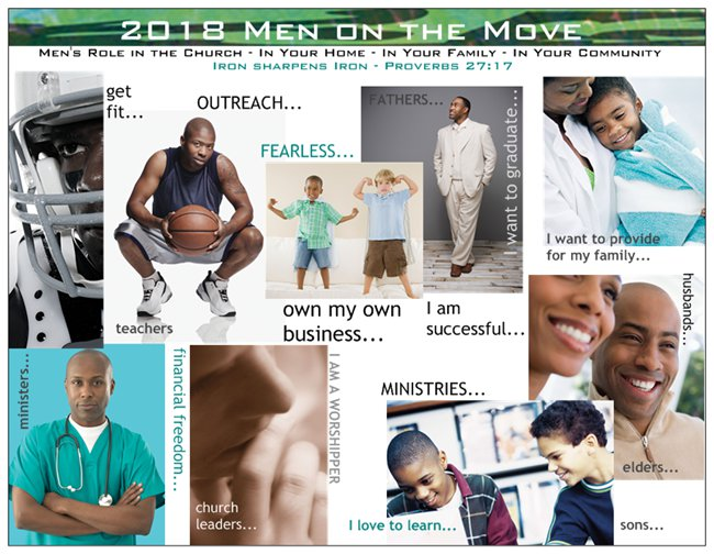 Order Event Cards: Church Welcome Card Men's Event: Men on the Move