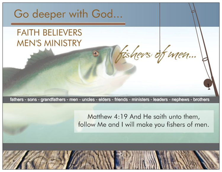 Event Cards: Church Prayer Card Men's Event: Fishers of Men
