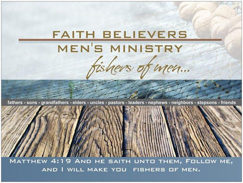 Father's Day Men's Ministry Prayer Card - Fishers of Men