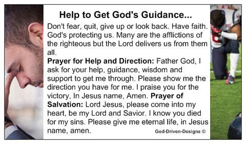 Help to Get God's Guidance Church Outreach Ministry Card