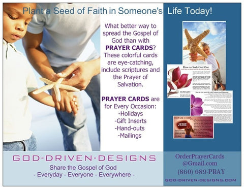 Assorted Prayer of Salvation Seed Cards - Themes Sampler Pack