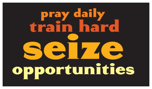 Pray Daily Corporate Daily Inspiration Seed Card - Orange