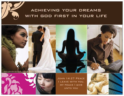 Achieve Your Dreams with God Prayer Card