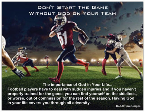 Don't Start the Game Without God Football Card
