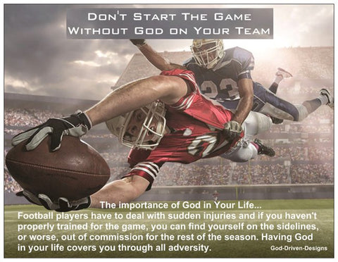 Don't Start the Game Without God Football Card - Gray