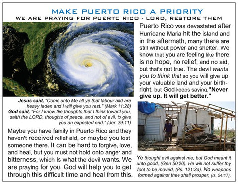 Make Puerto Rico a Priority Prayer for Puerto Rico Card