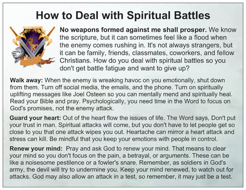 How to Deal With Spiritual Battles Card